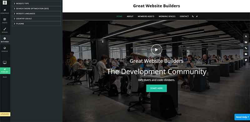 Site123 Editor