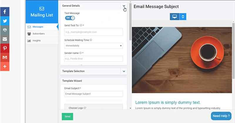 Site123 Email Marketing